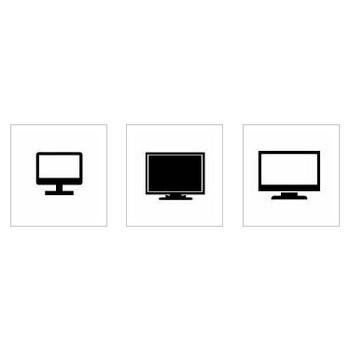 テレビ|シルエット イラストの無料ダウンロードサイト「シルエットAC」