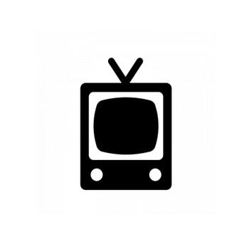 レトロテレビのシルエット | 無料のAi・PNG白黒シルエットイラスト