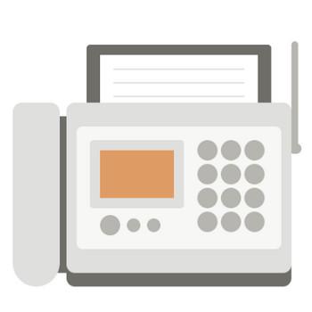 FAX(ファックス)のイラスト | 無料フリーイラスト素材集【Frame illust】