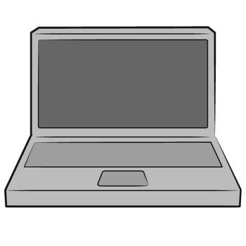 「ノートパソコン」フリーイラスト | シンプルフリーイラスト