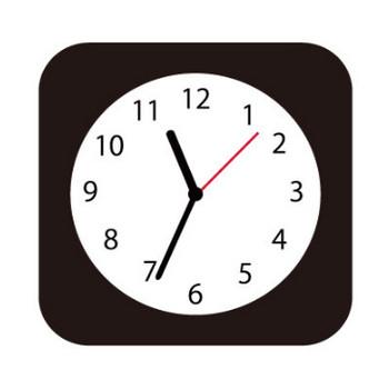 アプリ風の時計アイコン | SOZAIC.com【ソザイック】 フリーのイラスト素材と制作に役立つブログ情報サイト