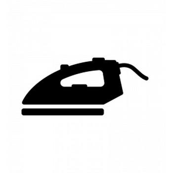 アイロンのシルエット   無料のAi・PNG白黒シルエットイラスト