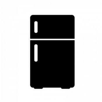 小型冷蔵庫のシルエット | 無料のAi・PNG白黒シルエットイラスト