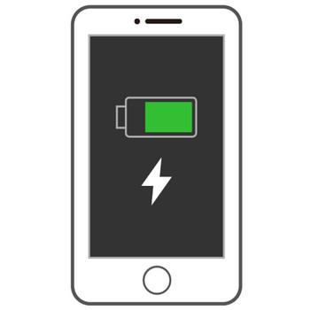 充電中のスマートフォン(スマホ)のイラスト | 無料のフリー素材 イラストエイト
