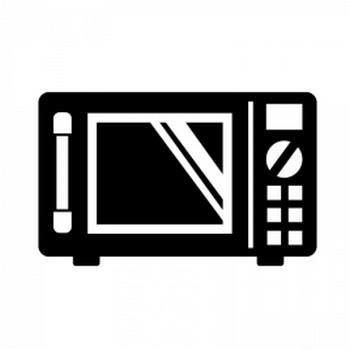 電子レンジのシルエット | 無料のAi・PNG白黒シルエットイラスト