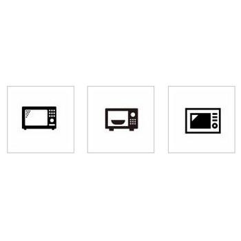 電子レンジ|シルエット イラストの無料ダウンロードサイト「シルエットAC」