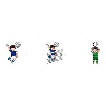 バレーボールの無料イラスト-イラストポップのスポーツクリップアートカット集