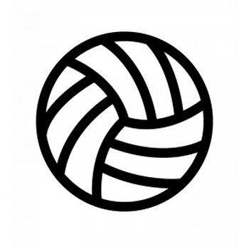 バレーボールのシルエット | 無料のAi・PNG白黒シルエットイラスト