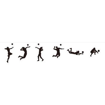 バレーボールプレイヤーのシルエット | シルエットデザイン
