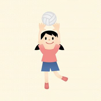 バレーボール | ファミリーイラストフリー素材
