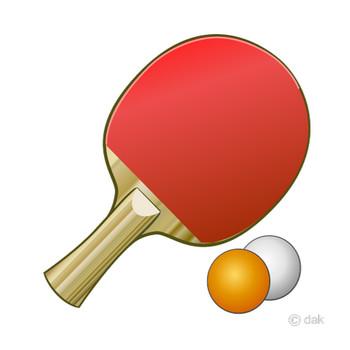卓球ラケットとボールの無料イラスト素材|イラストイメージ