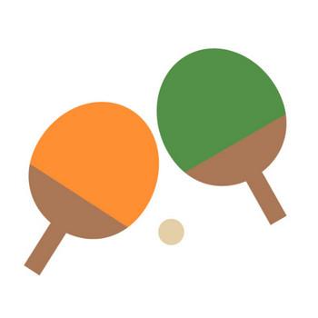 ラケット|卓球|フリークリップアート|イラスト素材|カット集