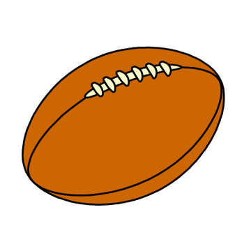 ラグビーボールのイラスト|フリー素材 イラストカット.com