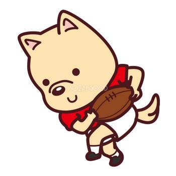 犬がラグビー オリンピック競技 スポーツ無料イラスト69587 | 素材Good