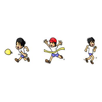 ホームページ フリー素材 イラスト 学校 幼稚園 キッズ の ソザイヂテン スポーツ・運動