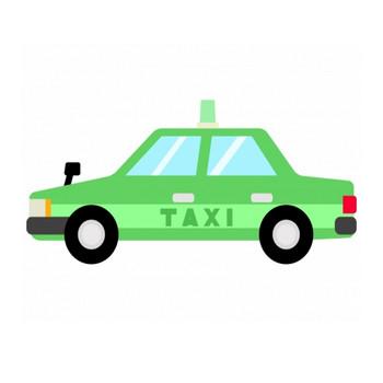 タクシーのイラスト02   イラスト無料・かわいいテンプレート