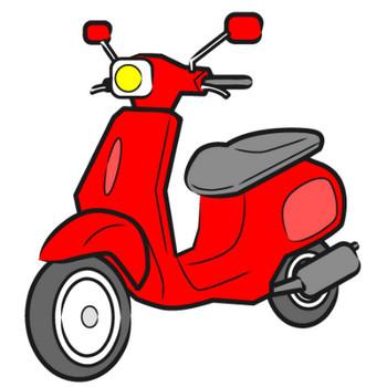 「スクーター(バイク)」フリーイラスト | シンプルフリーイラスト