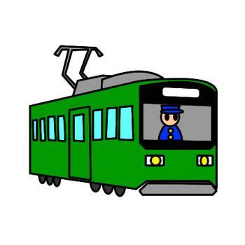路面電車のイラスト|フリーイラスト素材 変な絵.net