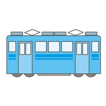 電車/トレイン|ちんちん電車|フリーダウンロード|イラスト素材|クリップアート