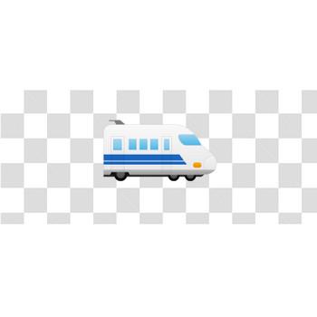 青い新幹線のフリーイラスト素材