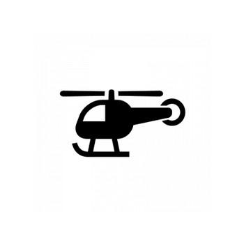 ヘリコプターのシルエット | 無料のAi・PNG白黒シルエットイラスト