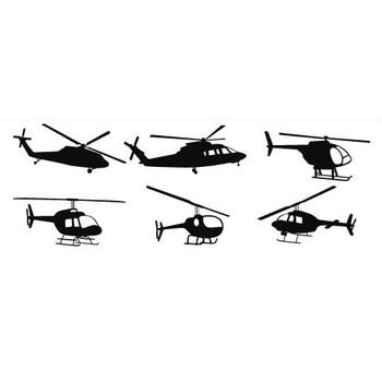 ヘリコプターのシルエット | シルエットデザイン