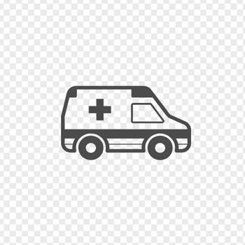 救急車のフリーアイコン4 | アイコン素材ダウンロードサイト「icooon-mono」 | 商用利用可能なアイコン素材が無料(フリー)ダウンロードできるサイト