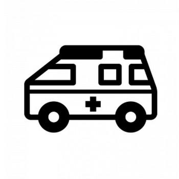 救急車のシルエット | 無料のAi・PNG白黒シルエットイラスト