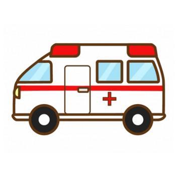 手書き風の救急車のイラスト | イラスト無料・かわいいテンプレート