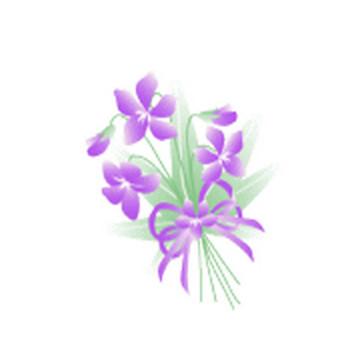 春の花/スミレ/の無料イラスト素材 - 花/素材/無料/イラスト/素材【花素材mayflower】モバイル/WEB/SNS