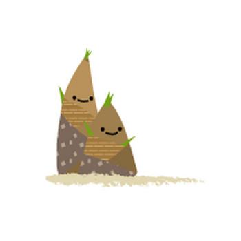 春のイラスト(竹の子・たけのこ・筍)-無料イラスト