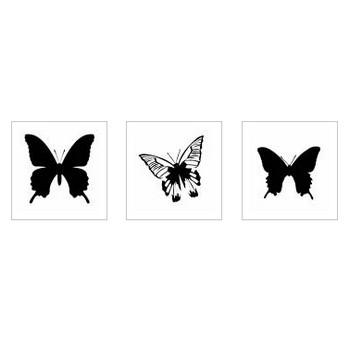 蝶|シルエット イラストの無料ダウンロードサイト「シルエットAC」