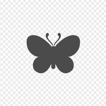蝶のアイコン素材4 | アイコン素材ダウンロードサイト「icooon-mono」 | 商用利用可能なアイコン素材が無料(フリー)ダウンロードできるサイト