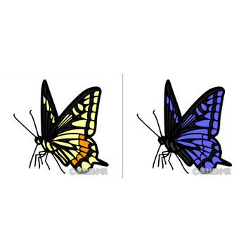 アゲハ蝶のイラスト | 素材屋小秋