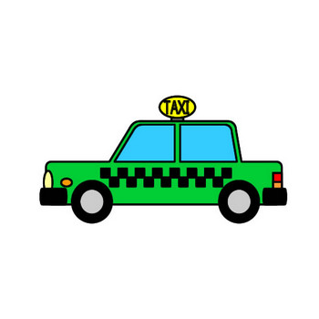 タクシーのイラスト フリーイラスト素材 変な絵.net