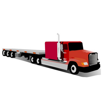 コンテナトラックのクリップアート ベクター画像 | 無料ダウンロード