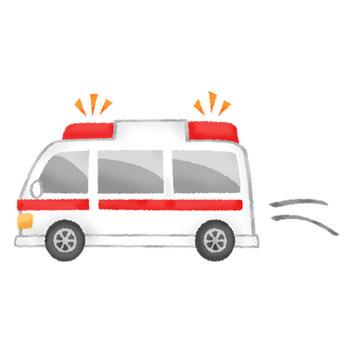 走る救急車 | フリーイラスト素材 イラストラング