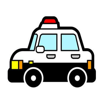 パトカーのイラスト/警らパトロールカー|働く車|乗り物|素材のプチッチ