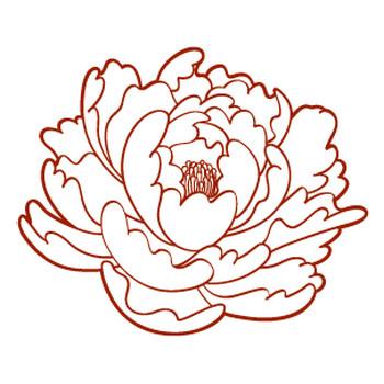 牡丹の花イラスト6 | 花、植物イラスト Flode illustration (フロデイラスト)