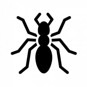 蟻のシルエット | 無料のAi・PNG白黒シルエットイラスト