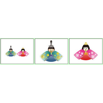 ひな祭りのイラスト 無料 素材リストD.B