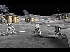 Moonbase Alpha Game ScreenShot -- Repairing the Life Support  System