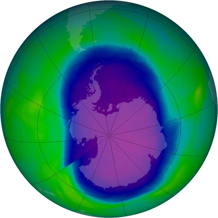 The Antarctic Ozone Hole Source: NASA Goddard