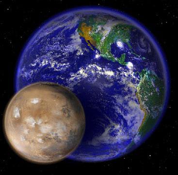 Mars near to Earth