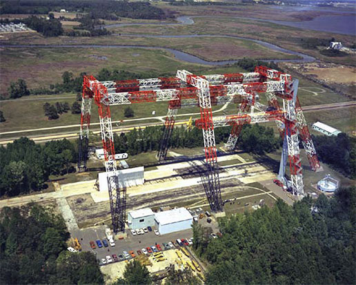NASA gantry at Langley Research Center in Hampton, Va.