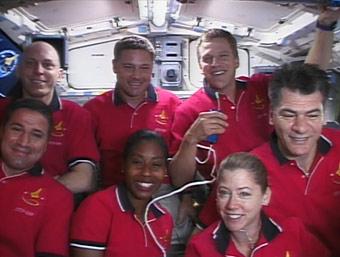 STS-120 crew members