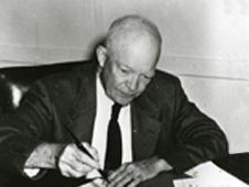 President Eisenhower signing the National Aeronautics and Space Act - U.S. Naval Photographic Center