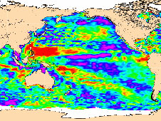 OSTM/Jason 2 map of sea-level anomalies from July 4 to July 14, 2008