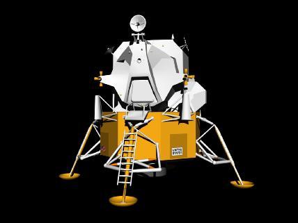 Modelo en 3D del módulo lunar