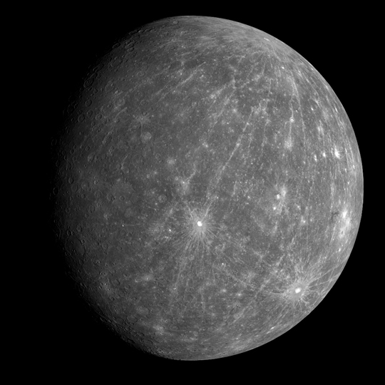 Mercury by MESSENGER. Click to enlarge